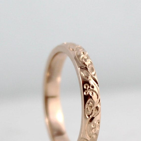 14k Rose Gold Wedding Band Design Band Stacking Ring