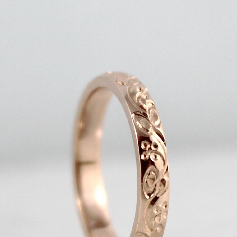 14k rose gold wedding band design band etsy mens wedding bands zoom