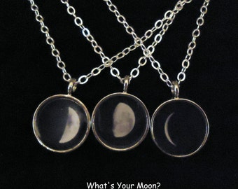 Personalized Moon Phase Necklace, Personalized Jewelry, Moon Jewelry, Astrology jewelry