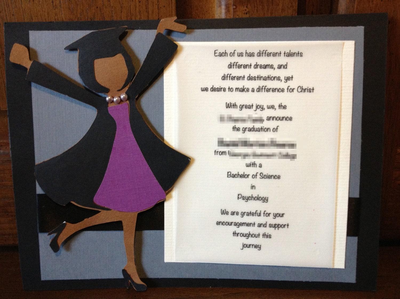handmade  custom graduation invitation or announcement