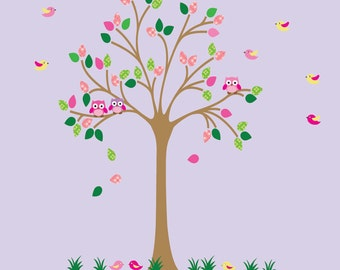Kids Tree Wall Fabric Decal ECOFRIENDLY Non-Toxic Reusable Fabric Decal - T503P