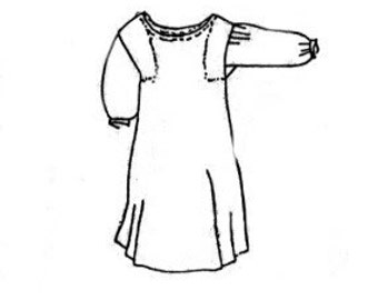 PI510 - 18th Century Shift Sewing Pattern by Period Impressions