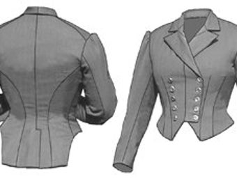 TV464 - 1883 Riding Habit Bodice Sewing Pattern by Truly Victorian