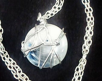 Fast Candy Necklace Handmade wire wrapped glass pendant
