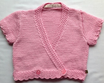 Baby Toddler  Sweater, Pink Cashmere Cardigan, Girls Wrap Sweater, Baby Knitwear 6-12 months