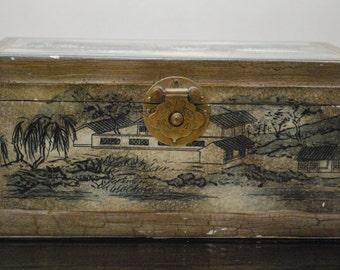 Vintage Oriental Style Jewelry Box