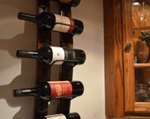 Wine Stave Wine Rack - with steel banding - WineStaveCrafts