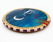 Hand Painted Lazy Susan Functional Art Positive Song Quote