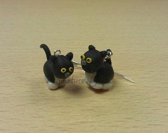 Miniature Cat Polymer Clay Earrings