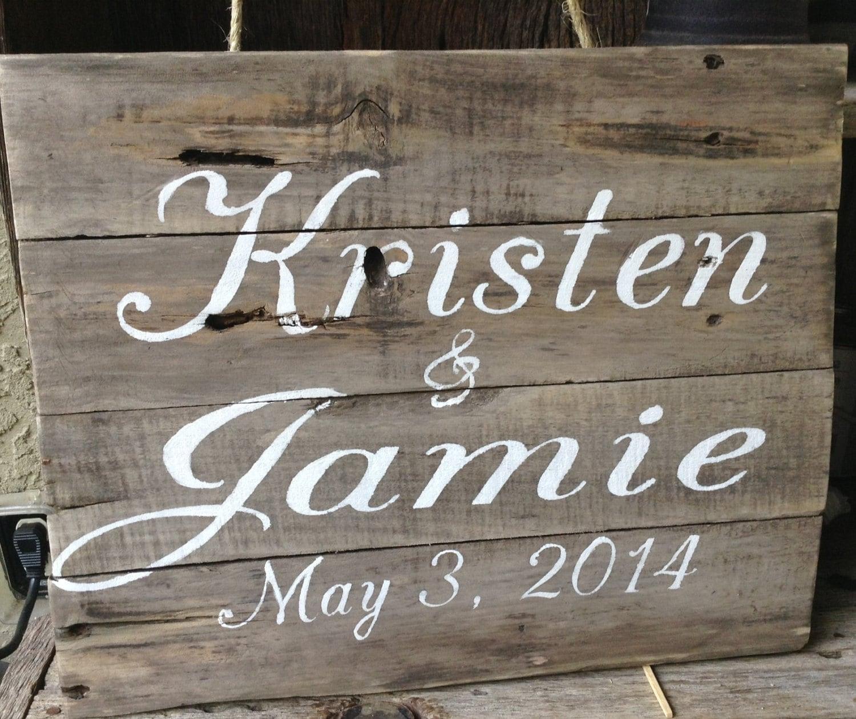 Pallet Art Wedding Sign Wooden Sign by RescuedandRepurposed