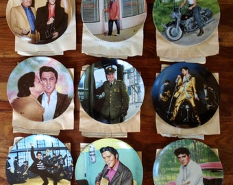 Elvis Presley Looking at a Legend Collection of Plates by Bruce Emmett for Delphi