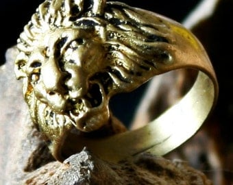 Lion Brass Ring