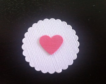 Hearts w/ Scallop Die Cut, set of 12