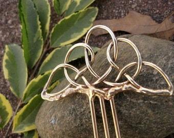 Triangular Celtic Knot Hair Stick