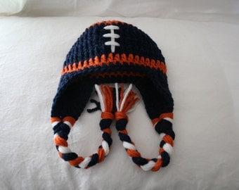 University of Virginia Football Earflap Hat - UVA Hat - Newborn Photo Prop