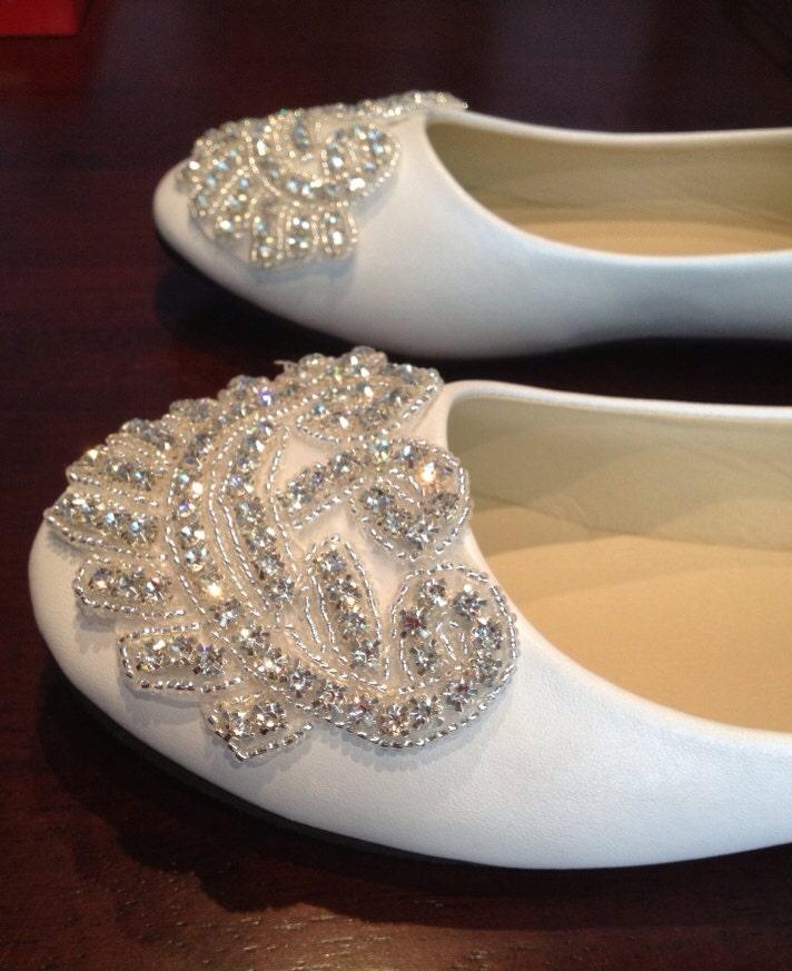 Rhinestone Flats For Wedding: Flat Bridal ShoeRhinestone ShoeWedding Shoe Flat Rhinestone