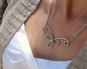 Silver Necklace, Chain Necklace, Delicate Silver Necklace, Silver Chain Necklace, Modern Jewelry, Simple Necklace, Silver Jewelry, Dainty