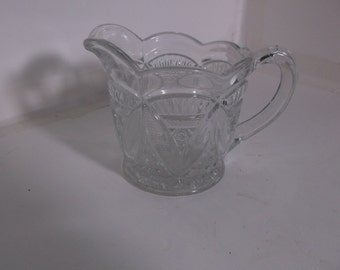 Vintage Clear Pressed Glass Creamer