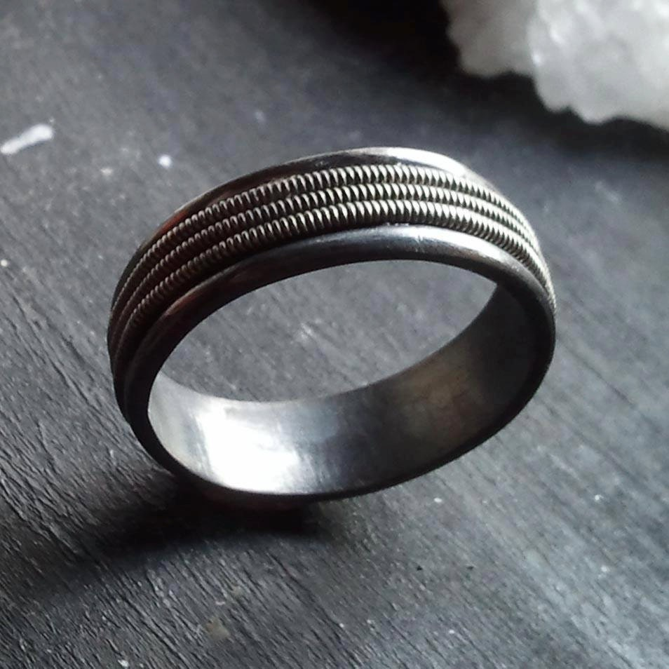 sterling silver and guitar string band the by thesmallbeast