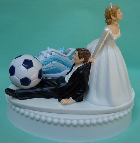 funny wedding cake toppers soccer wedding cake topper soccer player fan shoe sports by 14606