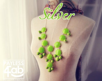 Bubble Necklace J. Crew Style Inspired Statement Necklace Spring Sprout Green