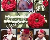 Crown Jewels Headband and Flower Pattern