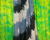 OOAK Long Skirt with a Blue Tie Dye Spiral