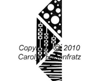 Unmounted Rubber Stamps Modern Triangles Small