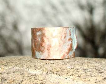 Cool Mens ring - copper jewelry