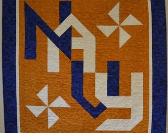 Navy Quilt - Custom Made Quilts perfect for the Hero in your life.