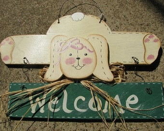 Country Crafts 903RB - Welcome Rabbit Green
