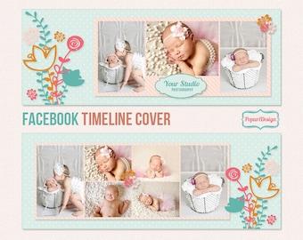 Instant Download Facebook Timeline Cover Template - PT040