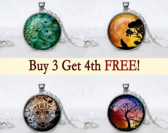 Pendant Necklace  Sale, Buy 3 Pendants Get One Free, Jewelry Discount, gift for family, gifts for friends, discount