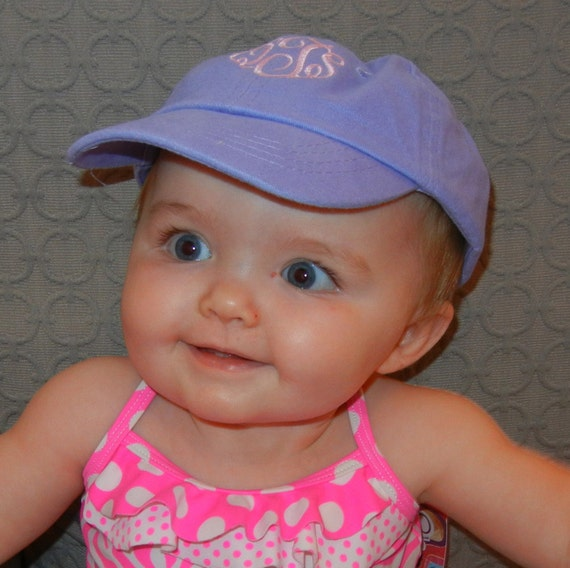monogrammed infant toddler baseball hat
