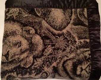 Animal Print Double Sided Fleece Blanket (Ready To Ship)