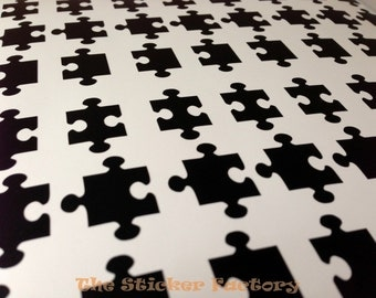 48 1 inch Puzzle Pieces vinyl decal wall art stickers