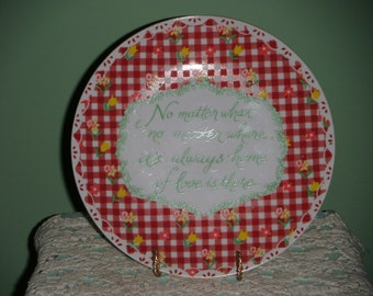 Decorative Porcelain Plate with Encouraging Quotation