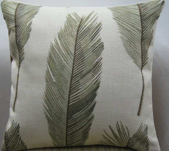 Decorative Pillow Palm Tree : Palm tree leaves decorative pillow cover-24x24
