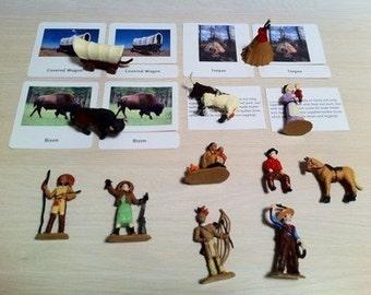 Montessori Westward Movement History and matching 5 Part Cards Set