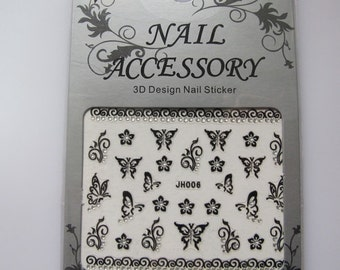 JH006 Black Nail Art Sticker Nail Art Sticker Sheet DIY Nail Art