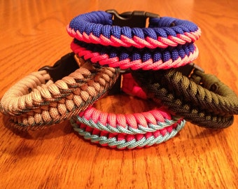 Fishtail Paracord Survival Bracelet with Dual Ladder Stitching