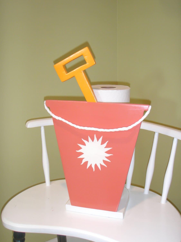 Beach bucket toilet paper holder pail shovel with - Beach toilet paper holder ...