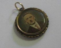 Antique Photo Pendant. Art Nouveau / turn of the century. Vintage