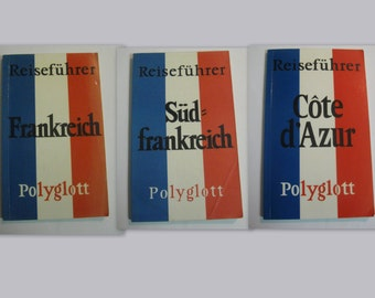 FRANCE. 3 Polyglott - Guide from the 70s and 80s. VINTAGE