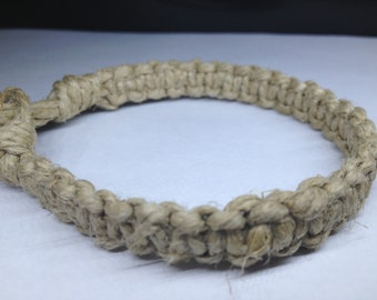 Basic Thick, Flat Hemp Bracelet
