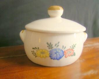 Vintage M. Kamenstein Floral Oven Proof Bowl w/ Lid 1982