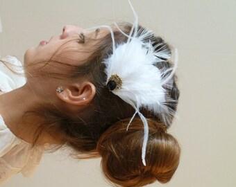 Feather head piece, Feather hair piece ,Feather headpiece , Feather hairpiece ,bridal head piece bridal hair piece bridal hairpiece
