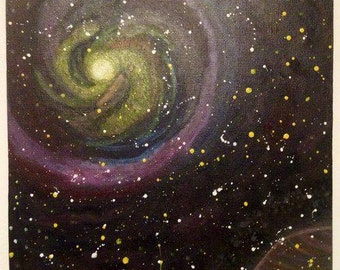 Galaxy Painting On Canvas