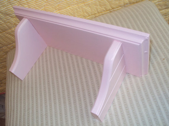 RECYCLED Shabby Chic Shelf pink bathroom jewelry  display cottage chic Nursery