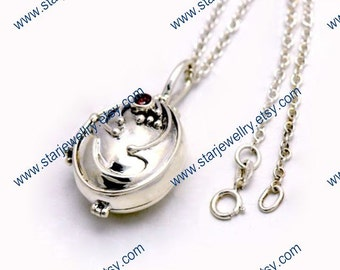 Steampunk Vampire diaries Elena Necklace with verbena---925sterling necklace